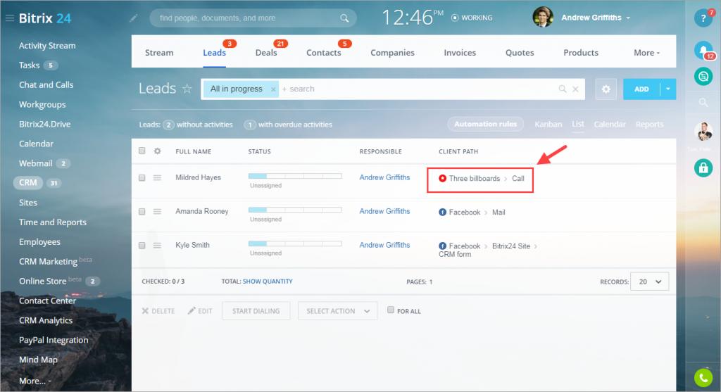 Kết nối các nguồn lưu lượng ngoại tuyến với Sales Intelligence