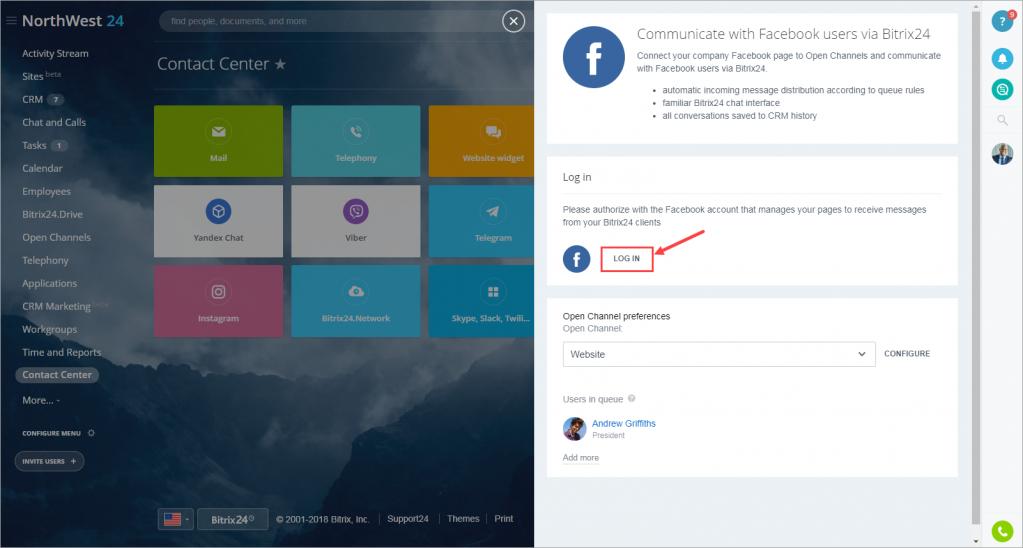 Kết nối tin nhắn Facebook