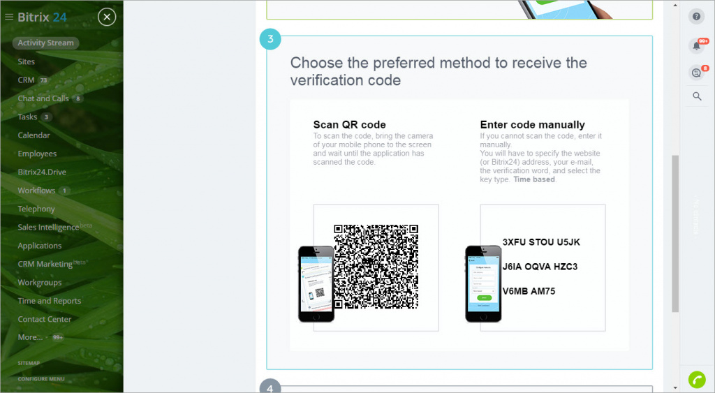 Two-step authentication (OTP)