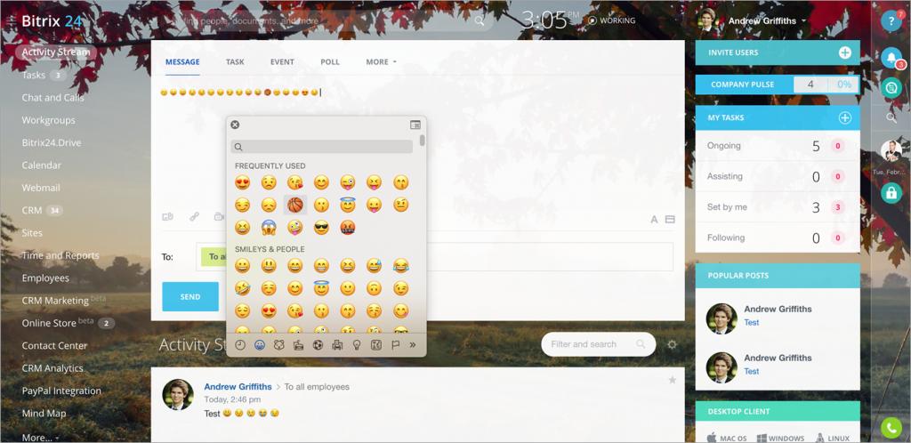 Emoji in Bitrix24