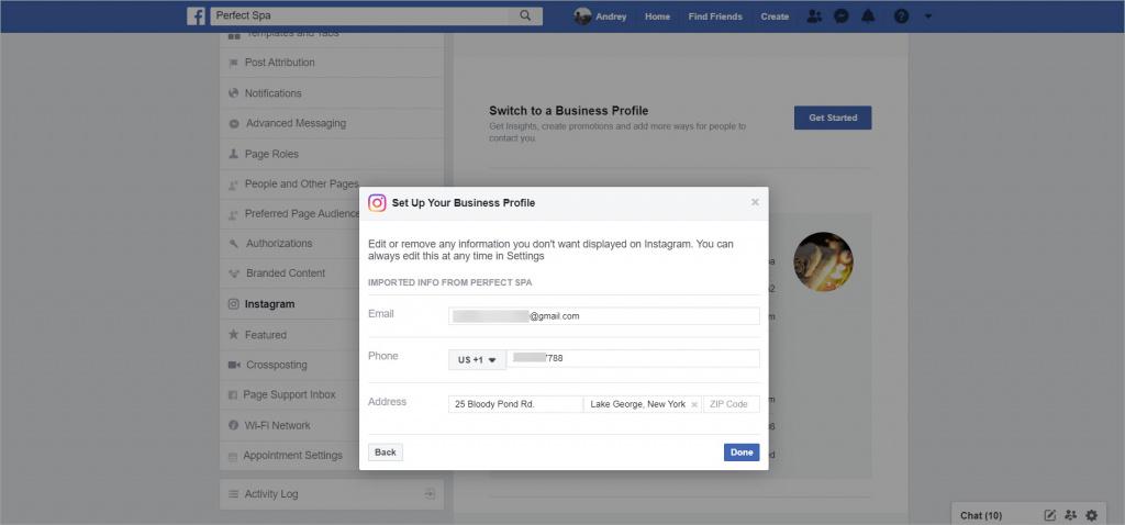 Kết nối tài khoản Instagram Business