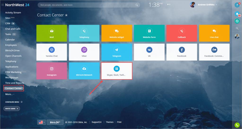 Connect Skype, Slack, Kik, Twilio, GroupMe, SMS, email, etc